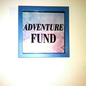 """Other - """"Adventure Fund"""" blue money bank"""